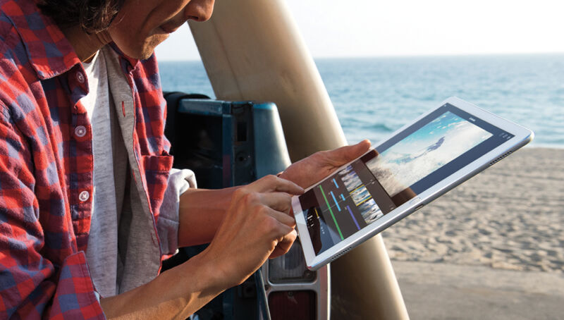 Das neue iPad soll die Features des Pro (Bild) mit der Größe des mini kombinieren. (© Apple)