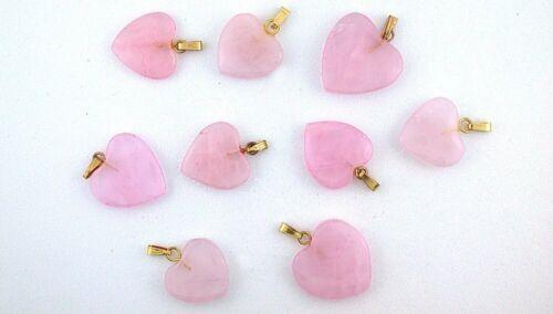 SIX 1/2 Inch To 4/5 Inch Rose Quartz Gemstone Pendant CLOSEOUT EBS9000