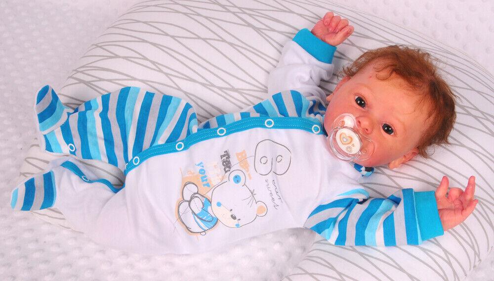 Schlafanzug Baby Strampler Anzug Overall 50 56 62 68 74 80 86 92 Langarm Fu/ß