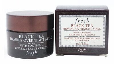 Fresh BLACK TEA Firming Overnight NIGHT Face/Facial Sleep MASK 15ml Boxed