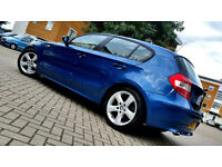 Blue BMW 1 SERIES 118d 2.0 Diesel Sport 5 Door FULL SERVICE HISTORY, 1 OWNER Alloys