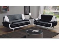 BEST SELLING BRAND== NEW 3 AND 2 SEATERS CAROL LEATHER SOFA SUITE OR CORNER SETTEE