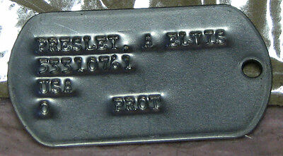 ELVIS DOG TAG PAIR