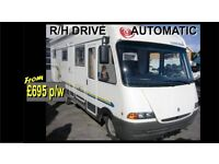 Campervan / Motorhome ( Automatic ) hire Devon-Cornwall , Plymouth 5 berth / Camper Van £695 p/w