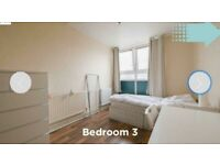 NICE DOUBLE IN A 3 BEDROOM FLAT LOCATED 1 MIN AWAY FROM MILE END STATION