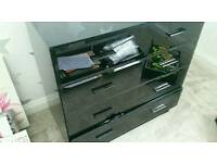 High gloss black Next chest of drawers