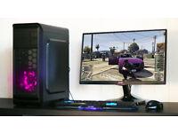 Fast Gaming Modded GTA V PC Intel Quad Core 8GB DDR3 Windows 10 Nvidia GTX Purple LED Quiet Fan