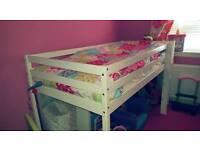 Mid sleeper bunk with mattress