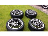"Genuine BMW 18"" 10 Spoke Wheels + RunFlats + Centre Caps"