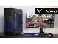 New Gaming PC Computer Desktop Intel Windows 10 Nvidia GTX LED Quiet Fan