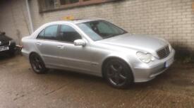 Mercedes C320 Avantgarde. Superb Throughout. Black Leather Heated Seats New MOT Warranty!