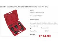 SEALEY VS0033 COOLING SYSTEM PRESSURE TEST KIT 5PC