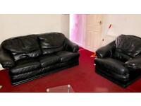 3 and 1 seater sofa in excellent condition pure leather- £150