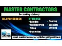 PAINTING DECORATING, FLOORING, PLASTERING, TILING