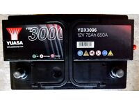 High output heavy duty vehicle battery car van motorhome YUASA 650 amps excellent condition
