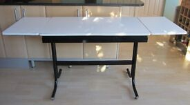 Extending Kitchen Table and Four Stools