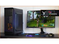 New Fast Gaming PC Computer Desktop Intel Windows 10 Nvidia GTX LED Quiet Fan