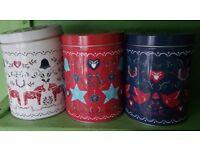 M&S scandi tea coffee & sugar canisters storage tins