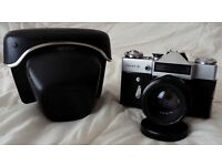 Zenit E (1969) with case and lens cap + Helios 44-2 f2/58 lens