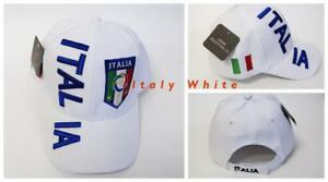New, FIFA Soccer World Cup Hat Cap, Adjustable One Size Italy White, Blue and Pink