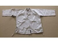 BLITZ kokuba white childs student judo suit size 140 - 450gsm