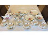 Fine Bone China Tea Set National Trust's Mottisfont Rose 29 piece