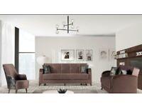 🤘🏻💓MEGA SUMMER SALES TURKISH DESIGN FABRIC STORAGE SOFA BEDS with Large Storage