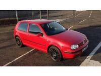 2002 Volkswagen Golf E 1.4 Petrol 3 Door - MOT March 2019 - 84031 Genuine Miles - Alloy Wheels