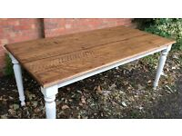 Reclaimed Oak Timber, Dining Table, New & Unused.