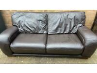 Real Leather Sofas 2 X Large 3 Seater Seater Sofas