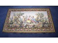 Large Antique Belgian Tapestry Wall Hanging,vintage tapestry,vintage fabric,tapestry,wall tapestry