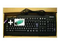NEW Lenovo Black UK English Fullsize Ps2 / USB Pro Keyboard