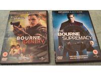 Bourne Identity & supremacy DVD's