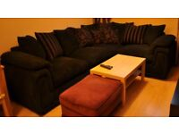 Large Black DFS Corner Sofa with bed - need gone ASAP