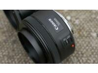 Canon 50 mm. f1.8 STM lens mark ii