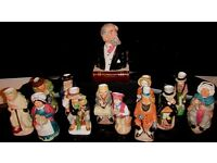 Complete collection of 12 Dickens Toby Jugs & Bust of Charles Dickens