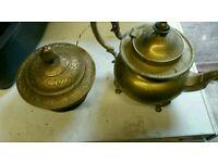 Brass teapot & pot