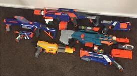 Collection of Nurf guns