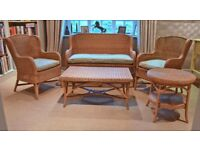 Quality WICKER conservatory sofa chairs and tables (originally from Laura Ashley)