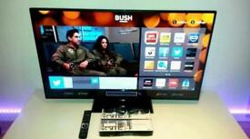"""Bush 32"""" Smart WiFi Led tv Freeview Hdmi Youtube Netflix BbC Itv Excellent condition"""
