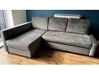 Corner Sofa Bed with Storage, dark grey-FRIHETEN (RRP£500)