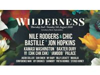 Selling one ticket for Wilderness Festival, 2-5 August