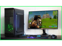 New Fast Gaming PC Computer Desktop Intel Windows 10 Nvidia GTX LED Quiet Fan