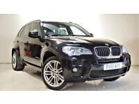 BMW X5 3.0 XDRIVE30D M SPORT 5d AUTO 241 BHP + SAT NAV + B/TOOTH + REAR CAM (black) 2011