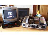JVC XLMV303 Video/CD Karaoke Player with monitor/mics/120+ discs lots of extras!