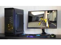New Cheap Fast Gaming PC Intel Quad Core 8GB DDR3 Windows 10 Nvidia GTX Red LED Quiet Fan
