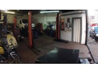 Fully equipped garage, workshop, profitable business, leasehold, £35k goodwill