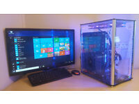 Gaming PC Computer Desktop Intel i7 920 16GB / 240GB SSD 3TB HDD / RX550 Win 10 Tower Only