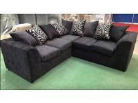 Brand new corner sofa black or grey always in stock