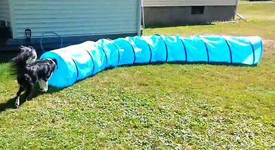 18 Ft Dog Agility Training Open Tunnel Sport Chute Puppy Obedience Equipment New